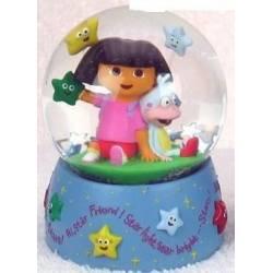 Boule de neige musicale Dora en résine 3D