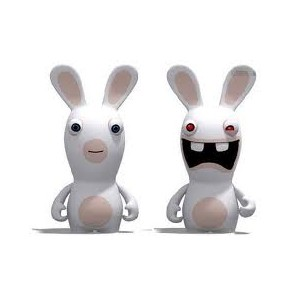 peluche 28 cm lapin cr tin. Black Bedroom Furniture Sets. Home Design Ideas