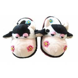 Chaussons Vache pour enfant de 3 à 10 ans
