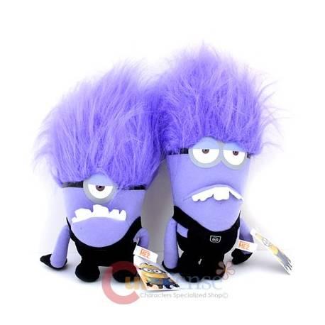 Peluche minion violet 26 30 cm id e cadeau acg cadeaux et gadgets fun beyblade pok mon - Les minions amoureux ...