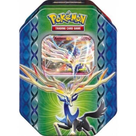 pok box xy xerneas pokemon boite en m tal avec 4 boosters xy 1 carte pokemon ex xerneas. Black Bedroom Furniture Sets. Home Design Ideas