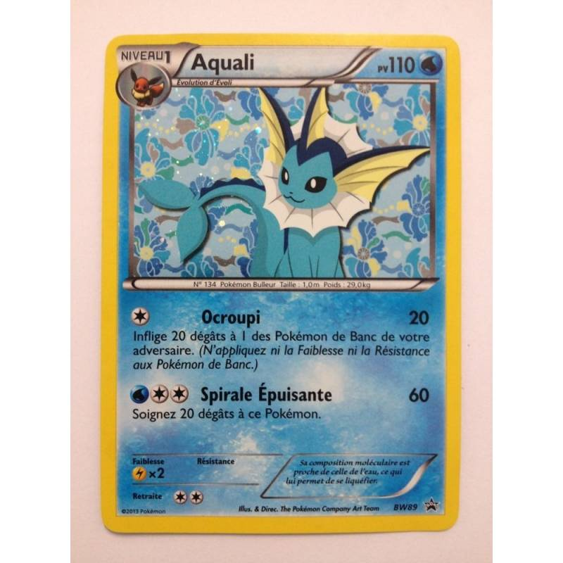 Aquali pv110 bw89 pokemon carte holographique id e cadeau acg cadeaux et gadgets fun - Carte pokemon aquali ...
