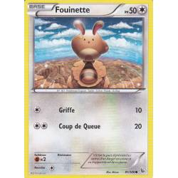 Fouinette PV50 - 81/106 Pokemon Carte Holographique