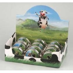 Cendrier de poche en métal motif vache