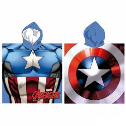 Poncho Avengers - Capitaine America