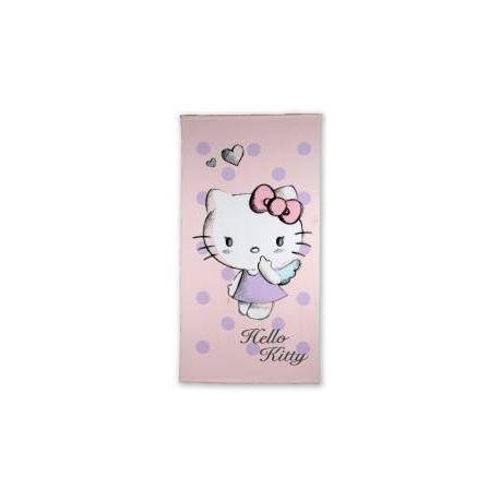 Drap de Plage Hello Kitty Mauve