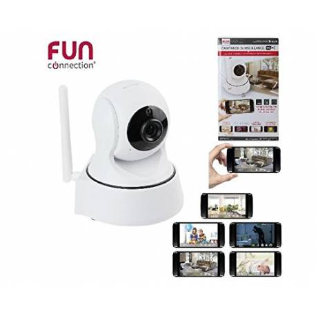 Camera de surveillance Fun Connection HT1438 Wifi Blanc