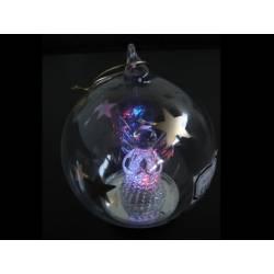 Boule de Noel en verre lumineuse ange