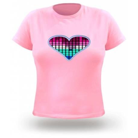 T-shirt equaliser femme motif coeur noir