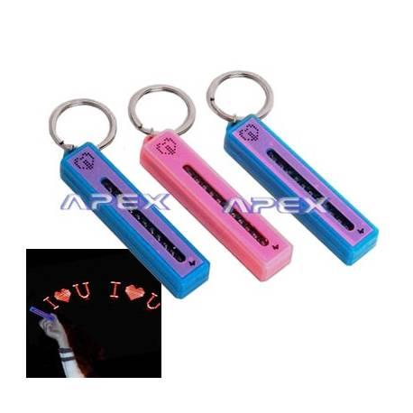 Porte clé magique message lumineux