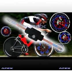 Kit fun de dessin lumineux sur roue de vélo