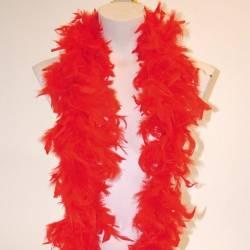 Boa plume rouge de 2 mètres