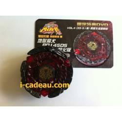 Hell Kerbecs ROUGE + DVD ntsc + Carte de membre + Valise 6 emplacements pour toupie Beyblade, une Hadès kerbecs Rouge