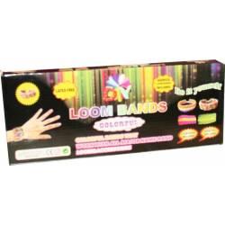 Coffret Machine à tisser élastiques Compatible Loom Bands, Cra-Z-Bandz, avec crochets etc. + 600 looms + 6 pendentifs charms