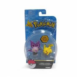 Figurines Pokémon Tomy Sonistrelle vs Pikachu