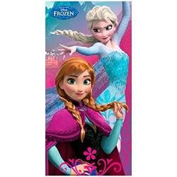 Drap de Plage La Reine des Neige - Anna & Elsa