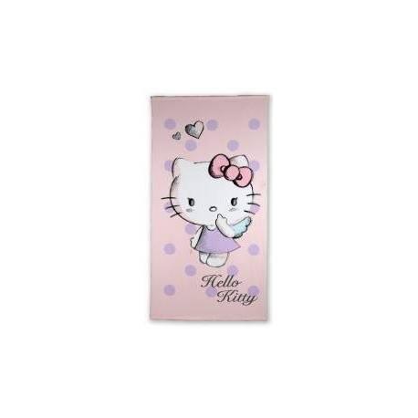 Drap de Plage Hello Kitty Mauve