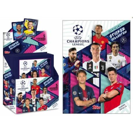 1 Sachet de Stickers Topps Champions League Football 2018-19